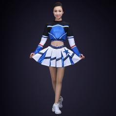 啦啦操演出服装校园女子体育赛事健美操服成人啦啦操演出服装定制!