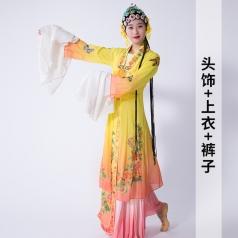 古典舞蹈演出服装青衣舞蹈表演服装中国风舞台演出服装定制!
