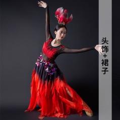 新款古典舞蹈演出服装女款黑色舞蹈演出服装定制