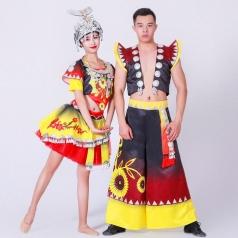 新款苗族舞蹈演出服装那女混搭舞台舞蹈演出服装定制!