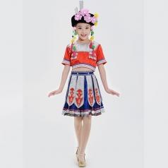 少数民族舞蹈表演服装儿童民族舞蹈演出服装校园56个民族舞蹈服定制款式!