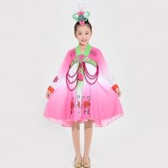 朝鲜族舞蹈演出服装儿童舞台演出服装女款民族舞蹈表演服装定制!
