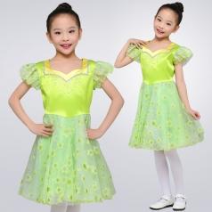 女童合唱比赛演出服装儿童合唱服定制新款校园合唱团体演出服装定制