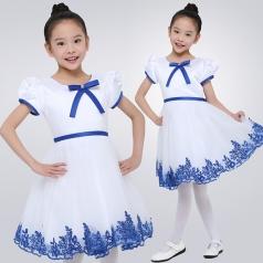 儿童合唱服演出服装中小学生朗诵校服男女童主持人表演礼服英伦风