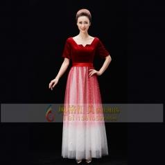 新款成年女士合唱舞台演出服装