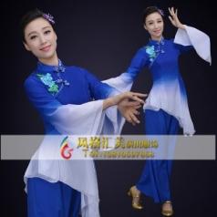 江南水乡经典剧目《人间四月》舞蹈服装艺考舞台伞舞演出服装定制!