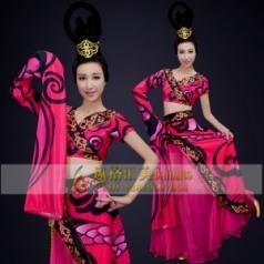 经典剧目《楚优》舞蹈演出服装服艺考舞台舞蹈演出服装中国风女子独舞演出服装定制!