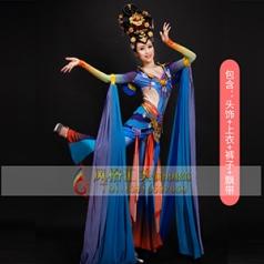 经典剧目《敦煌飞天》舞蹈演出服装艺考飘逸舞蹈表演服装新款舞蹈演出服装定制!