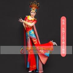 经典剧目《敦煌飞天》乐舞演出服装艺考女款舞蹈表演服装大型舞台演出服装定制!